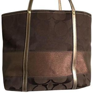 COACH Bag in Brown Signature interwoven